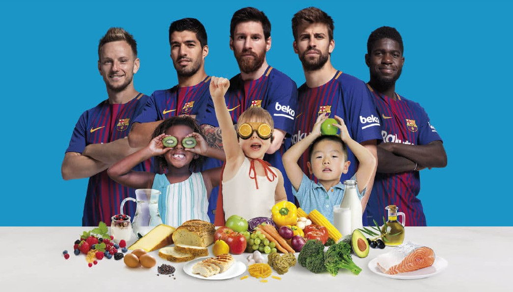 Футболисты «Барселоны» в рекламном ролике научили детей есть брокколи
